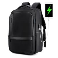 PUSH! 商務旅遊箱包用品防水抗震雙肩背包電腦包商務包3C包旅遊包學生包男背包U51黑色