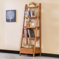 Bernice-維納1.8尺全實木單抽五層多功能收納置物架/書架