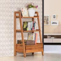 Bernice-維納1.8尺全實木單抽三層多功能收納置物架/書架