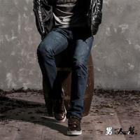 男人幫-原宿修身窄版單寧小直筒牛仔褲