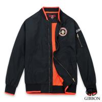 GIBBON 美式電繡棒球飛行外套‧黑色