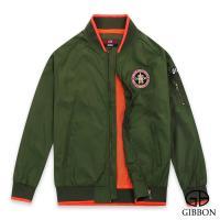 GIBBON 美式電繡棒球飛行外套‧綠色