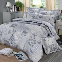 FITNESS 精梳棉加大七件式床罩組-塗鴉樂(藍)