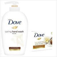 德國DOVE乳霜潔膚香皂-4款(135g*12)+絲柔配方洗手乳(250ml)*3
