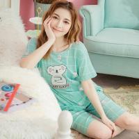 lingling日系 無尾熊貼布牛奶絲二件式睡衣組(全尺碼)
