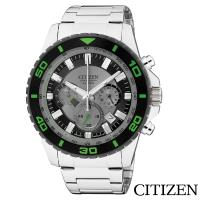 CITIZEN星辰  超越巔峰視距儀三眼石英腕錶 AN8030-58G