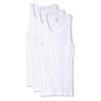 (預購)NAUTICA 男時尚經典白色圓領背心3件組