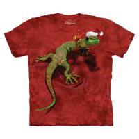 摩達客 美國進口The Mountain 聖誕和平壁虎 純棉環保短袖T恤