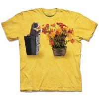 摩達客 美國 The Mountain 花與小貓 純棉環保短袖T恤