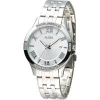 ALBA 情定羅馬晶鑽女錶-銀白(AG8405X1)
