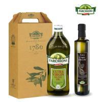 義大利法奇歐尼 冷壓初榨橄欖油健康禮盒-經典1L+美食家500ml