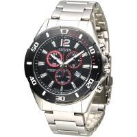 CITIZEN 極酷先鋒計時男錶-IP黑框(AN7110-56F)