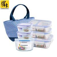 鍋寶 耐熱玻璃分隔保鮮盒-6入組-贈保溫提袋 EO-BVG6Z10B8352ZB1B