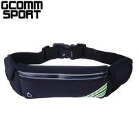 GCOMM SPORT 多功能收納音樂防汗水運動腰包 經典黑