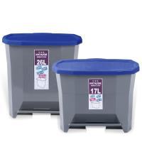 晶鑽踏式垃圾桶-大 +小組合