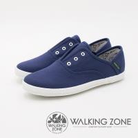 WALKING ZONE  防潑水帆布休閒女鞋-藍(另有粉色、黑色、白色)