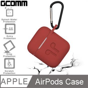 GCOMM Apple AirPods 藍芽耳機增厚保護套 熱情紅
