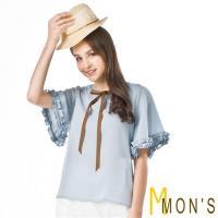 MONS法式浪漫優雅修身造型上衣