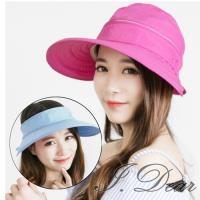 【I.Dear】日本機能男女兩用拉鍊空頂防曬遮陽帽(7色)現貨