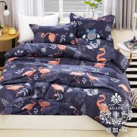 AGAPE亞加‧貝 MIT台灣製-烈鳥叢 舒柔棉雙人加大6尺三件式薄床包組(百貨專櫃精品)