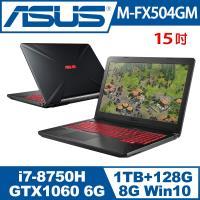 ASUS華碩 TUF Gaming M-FX504GM  15吋GTX1060獨顯雙碟電競筆電  戰鎧灰