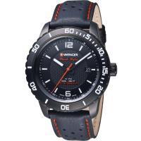 WENGER Roadster 黑夜騎士速度皮革腕錶   01.0851.123