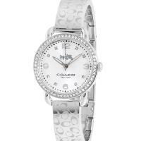 COACH 漫步巴黎時尚手鐲腕錶/銀 14502353
