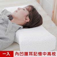 米夢家居-內凹保健深度睡眠止鼾-護耳灌模記憶中高枕(密度60) (1入)