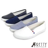 Pretty 無印風格帆布平底鞋P-28597