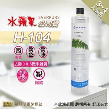 水蘋果公司貨 EVERPURE H104 淨水濾心