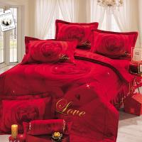 幸運草-熱銷款二選一 高級精梳棉大版立體車工ABC版特大八件式床罩組