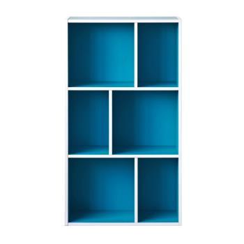 尼克斯-升級款三層六格櫃-藍色
