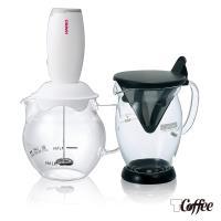 【TCoffee】HARIO冰咖啡雙響壺組2件組(免濾紙咖啡分享杯、電動奶泡器360ml)