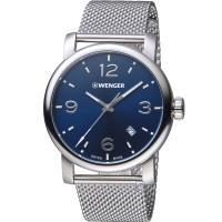 瑞士 WENGER Urban 都會系列 都市美學米蘭帶紳士腕錶 01.1041.125