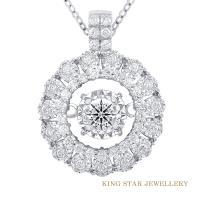 King Star GIA一克拉鑽石極致奢華鉑金靈動項鍊