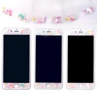 【Sanrio三麗鷗】iPhone 6 /6s (4.7吋) 繁花系列 9H強化玻璃彩繪保護貼
