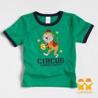 【LOVEDO-艾唯多童裝】敲鑼小猴 拼布短袖T恤 (綠) BSH13380