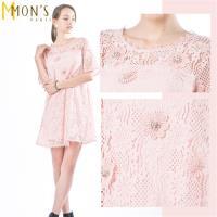 MONS浪漫嫵媚歐系手工蕾絲洋裝