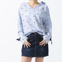 黛莉克絲韓版時尚小鯨魚印花造型上衣