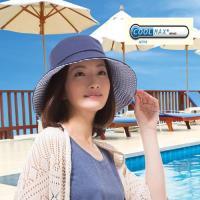 日本sunfamily 涼感抗UV可折疊寬緣小臉帽(藍)