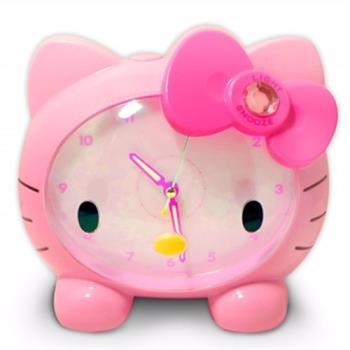 Hello Kitty臉蛋造型音樂貪睡鬧鐘