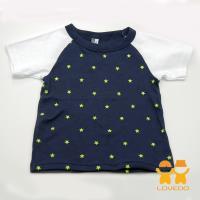 【LOVEDO-艾唯多童裝】繁星夜空 拼色短袖T恤 (深藍) BSH13431