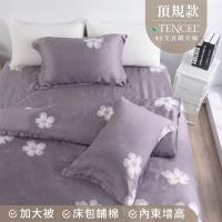 夢工場 空翠漸晚天絲頂規款兩用被鋪棉床包組-雙人