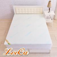 LooCa 水漾天絲5cm七段式乳膠床墊-加大6尺