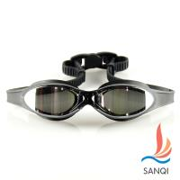 SANQI三奇 夏日必備抗UV防霧休閒泳鏡(共三色F) SN380