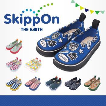 【日本SkippOn】兒童休閒機能鞋〈街頭拼貼〉