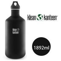 [ 美國Klean Kanteen ] 窄口不鏽鋼瓶1892ml-消光黑