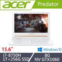 Acer宏碁 Predator掠奪者 電競筆電 PH315-51-77MC  15吋/i7-8750H/8G/1T+256G SSD/GTX1060 白色特仕版