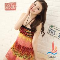 SANQI三奇 花漾摩登 兩件式比基尼泳衣(共兩色M~XL) SQ12131