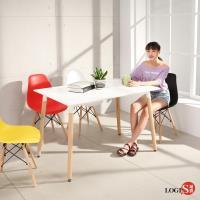 LOGIS邏爵 自然簡約北歐寬80cm餐桌 長桌 工作桌 書桌 休閒桌 T12080W